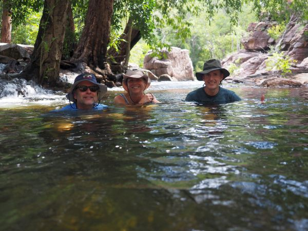 Kakadu Tours Swimming in Waterhole